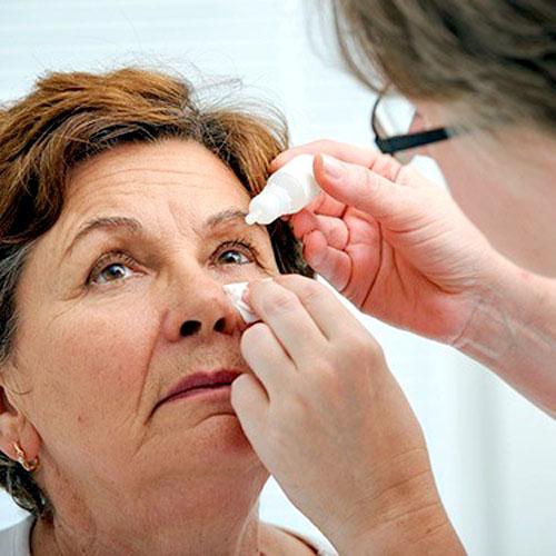 Глазные капли для пожилых людей