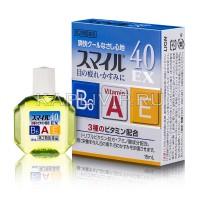 Капли LION Smile 40 EX Cool с витаминами для освежения глаз