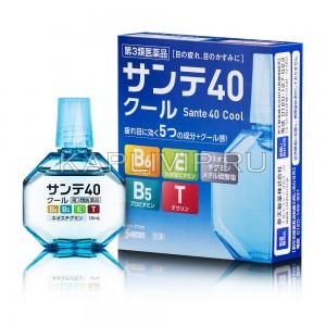 Капли Sante 40 Cool с витаминами для борьбы с возрастными изменениями глаз