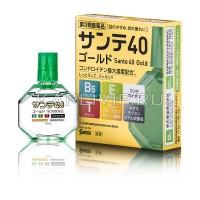 Капли витаминизированные Sante 40 Gold для поддержания остроты зрения