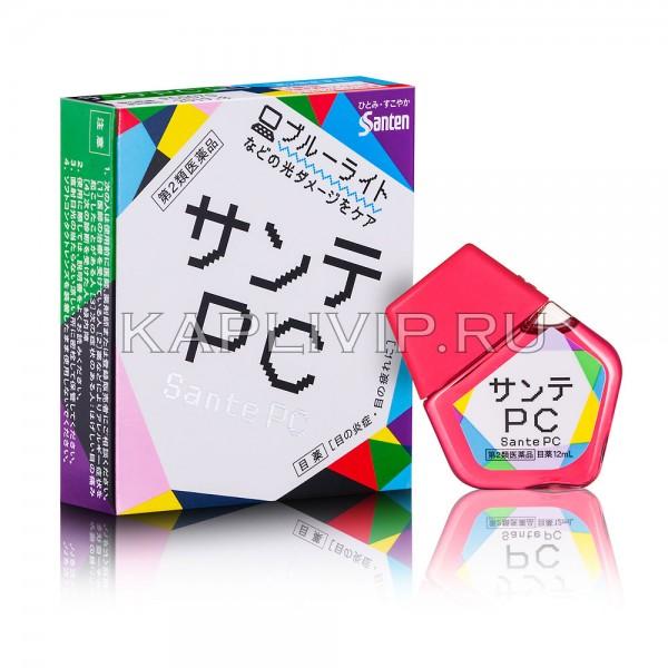 Купите глазные капли с витаминами Sante PC при высоком зрительном напряжении. Эффективное устранение усталости, покраснения глаз после длительной работы за компьютером